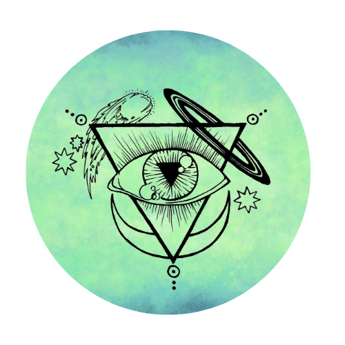The Starsdance sigil atop a perky green and blue circle